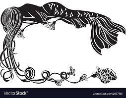 Black ornate frame Square Ornate Frame Sleeping Mermaid Vector Image Vectorstock Ornate Frame Sleeping Mermaid Royalty Free Vector Image