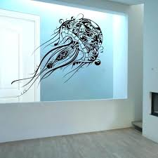 sea wall decal jellyfish extra large ocean life vinyl wall decal sea turtle wall decals