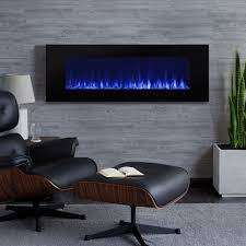 wall mount electric fireplace in black