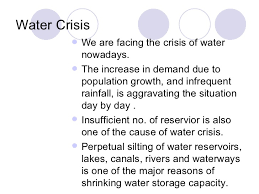 essay on water shortage in  water crisis impacts and management in entrytest