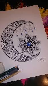 Moon Mandala Design Pin By Aysh Rahal On Zentangle Colouring Pages Mandala