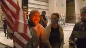 Gabriel Johnson Portland ex marine stands against ANTIFA protesters