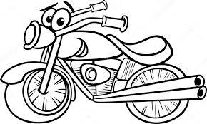 Fiets Of Chopper Kleurplaten Pagina Stockvector Izakowski 40558043