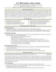 Resume Radiology Technologist Examples Radiologic Cover Letter