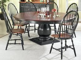 5 black pedestal dining room table black pedestal table round pedestal dining table finished in black