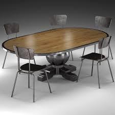 oval dining room. Enzo Industrial Loft Pine Metal Oval Dining Table 3d Model Max Obj Fbx Mtl Unitypackage 1 Room