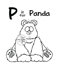 Printable P Words Coloring Pages Print Pig Free Alphabet Coloring ...