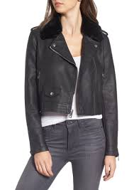 levi s levis sherpa faux leather moto jacket with faux fur collar