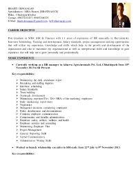 Mba Career Objective For Resume Best of Career Objective Of Hr Manager Tierbrianhenryco