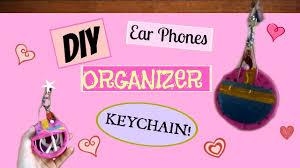 diy cute earphone organizer back keychain thecutebuddingcrafter