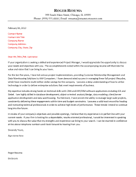 Cover Letter For Management Technology Cover Letter Example
