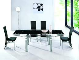expandable glass dining table extendable black glass high gloss base dining table and 8 chairs within