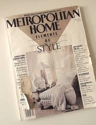 Small Picture 80s Vintage Magazine Metropolitan Home Magazine 1985 Home
