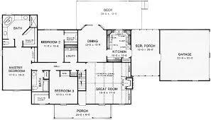 Rustic Ranch House Plan   K   st Floor Master Suite  Corner    Floor Plan