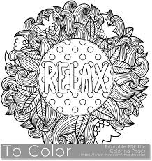 Small Picture Items similar to Printable Relax Coloring Page for Adults PDF