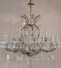 a lovely large maria theresa twenty two light chandelier or hanging fixture