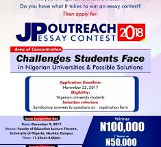 jp outreach essay competition university of ia nsukka jp outreach essay competition 2018