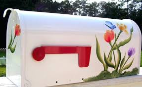 painted mailbox designs. Paint Mailbox Design Painting Of Mailboxes For Home Painted Side Gold Numbers Designs X