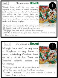 Holiday Reading Comprehension Worksheets Worksheets for all ...