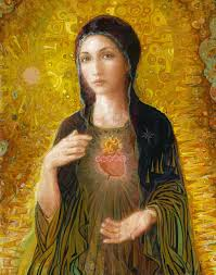 mary painting immaculate heart of mary by smith catholic art