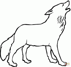 Coloring Pages Wolf Howling Page Free Coloring Pages