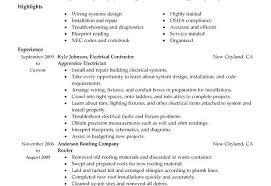 Electrician Job Description Apprentice Electrician Job Description Resume From Industrial Resume