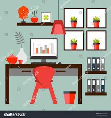 zen home office. Flat Design Of Zen Home Office Layout. Relaxing Work Environment.) C