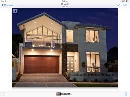 Balcony Over Garage Design Two Storey Facade Vaulted Roof Balcony Over Garage Glass