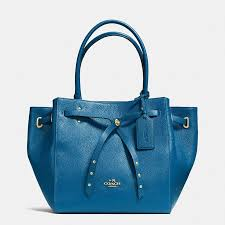 ... Coach Turnlock Tie Small Tote in Refined Pebble Leather ...