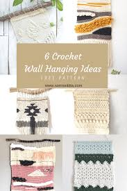 Then, wrap the new thread around the hook (pic.3), and pull it through the loops (pic.4). Easy Crochet Wall Hanging Ideas With Free Patterns Somssititta