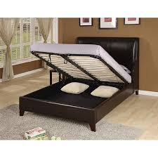 lift storage bed.  Storage Synthetic Leather Wingback Kingsize Lift Storage Bed On