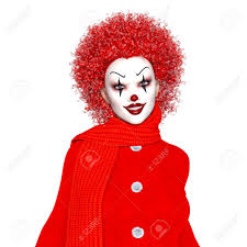 clown makeup woman stock photo 64249686