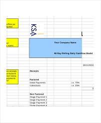 Cash Flow Calculation Excel Daily Cash Flow Template Excel Cash Budget Template Cash