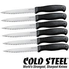 Barringtons Swords  Cold Steel Kitchen Knives Classic Set Of Six Cold Steel Kitchen Knives