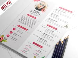 Artist Resume Template Extraordinary Free PSD Painter Artist CV Resume Template PSD By PSD Freebies