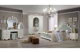 Barock Schlafzimmer Aurora Samt Grünweiß 6 Teilig Interdesign24de