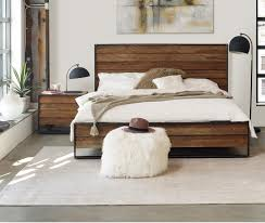 Moes Home Sevilla Light Grey Wood 2pc Bedroom Set with Queen Bed