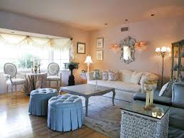 Shabby Chic Living Rooms Shabby Chic Living Room With Upholstered Sofa Beautiful Shabby