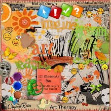 digital scrapbook kits for your art and scrapbooking art therapy