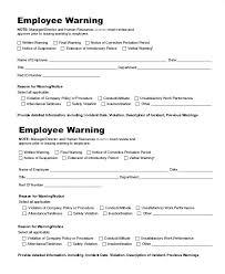 free employee warning forms employee verbal warning form altpaper co