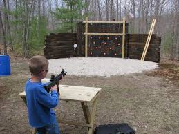 using railroad ties to build a shooting range
