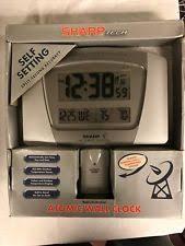 sharp weather station. sharp tech atomic wall clock weather station