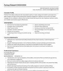 Safety Manager Resume Food Safety Manager Resume Sample Manager Resumes Livecareer