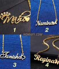 gold plated name pendant all designs
