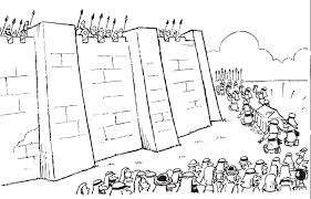 Joshua And The Battle Of Jericho Coloring Page #2764 - 1295×830 ...