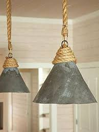 tin lighting fixtures. i think the addition of rope to your existing fixtures could bring nautical vibe you want rustic tin u0026 sisal pendants via designer amanda nisbet lighting t