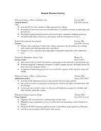 College Resume Example Fascinating Resume Sample College Student Student Resume Sample Resume