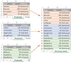 how to make a sheet in excel consolidate in excel merge multiple sheets into one