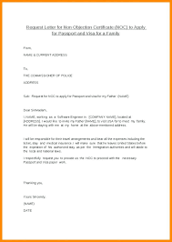 New No Objection Letter No Objection Certificate Request Letter