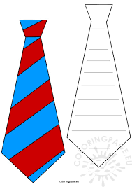 Small Picture Fathers Day craft Tie bookmarks template Coloring Page